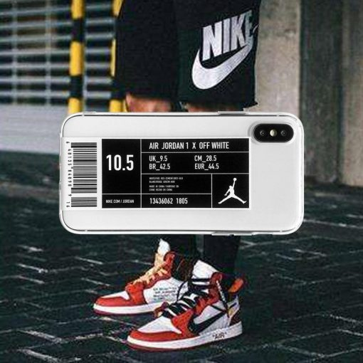 Air Jordan Style Clear Silicone Shockproof Protective Designer iPhone Case For iPhone SE 11 Pro Max X XS Max XR 7 8 Plus - Casememe
