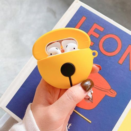 Doraemon Style Yellow Bell Silicone Protective Shockproof Case For Apple Airpods 1 & 2 - Casememe