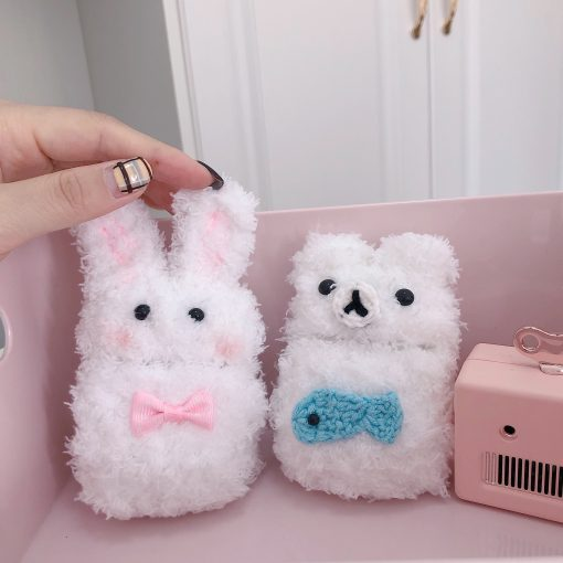 White Bear Furry Protective Case For Apple Airpods Pro - Casememe