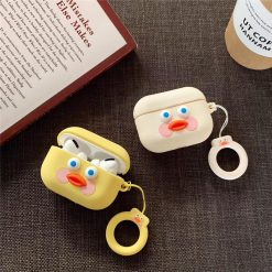 Cute Toast Dudu Duck Silicone Protective Case For Apple Airpods Pro - Casememe