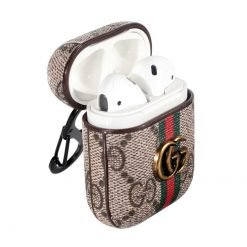 Gucci Style Marmont Leather Protective Shockproof Case For Apple Airpods 1 & 2 - Casememe