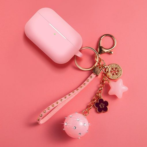 Ball Keychain Silicone Protective Case For Apple Airpods Pro - Casememe