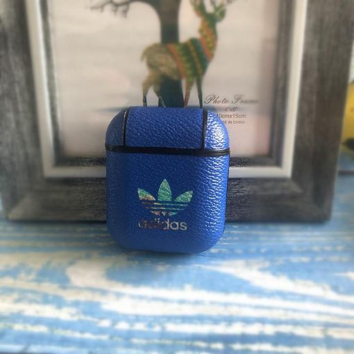 Adidas Original Style Classic Logo Leather Protective Shockproof Case For Apple Airpods 1 & 2 - Casememe