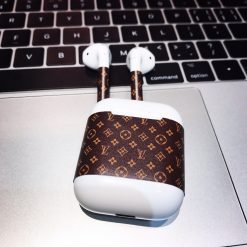 Luxury Style Monogram AirPods Skin Sticker Adhesive Protective Decal For Apple AirPods 1 & 2 - Casememe