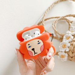 Cute Lion Silicone Protective Case For Apple Airpods 1 & 2 - Casememe