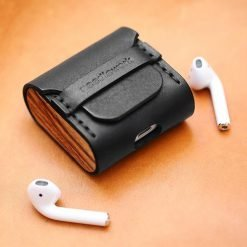 Leather Wooden Earphone Protective Shockproof Case For Apple Airpods 1 & 2 - Casememe