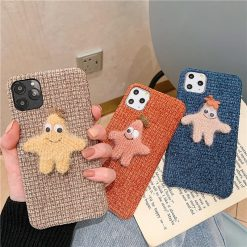 Fabric Patrick Star Shockproof Protective Designer iPhone Case For iPhone SE 11 Pro Max X XS Max XR 7 8 Plus - Casememe