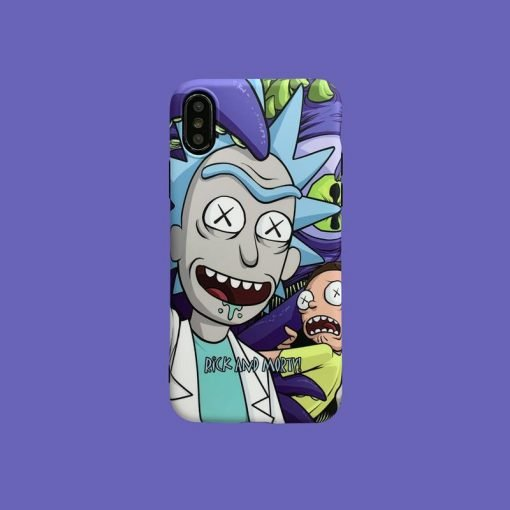 Rick and Moti Style Silicone Shockproof Protective Designer iPhone Case For iPhone SE 11 Pro Max X XS Max XR 7 8 Plus - Casememe