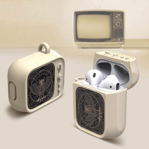 Cute Vintage TV Silicone Protective Shockproof Case For Apple Airpods 1 & 2 - Casememe