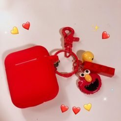 Sesame Street Style Elmo Cookie Silicone Protective Shockproof Case For Apple Airpods 1 & 2 - Casememe