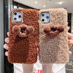 Poodle Puppy Furry Shockproof Protective Designer iPhone Case For iPhone SE 11 Pro Max X XS Max XR 7 8 Plus - Casememe
