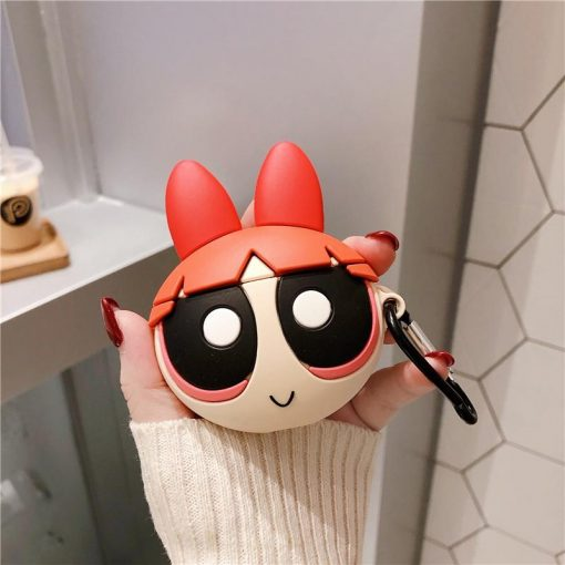 The Powerpuff Girls Style Silicone Protective Case For Apple Airpods 1 & 2 - Casememe