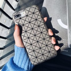 Issey Miyake Style Geometric Silicone Designer iPhone Case For iPhone SE 11 Pro Max X XS Max XR 7 8 Plus - Casememe