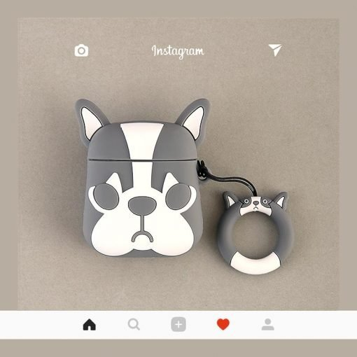 Marc Jacobs Style French Bulldog Silicone Protective Shockproof Case For Apple Airpods 1 & 2 - Casememe