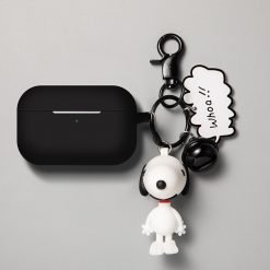 Snoopy Style Charlie Keychain Silicone Protective Case For Apple Airpods Pro - Casememe