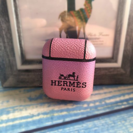 Hermes Style Ombre Leather Protective Shockproof Case For Apple Airpods 1 & 2 - Casememe
