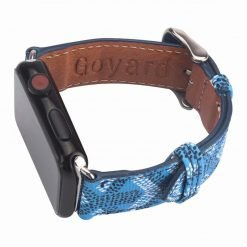 MORE COLORS Goyard Style Leather Compatible With Apple Watch 38mm 40mm 42mm 44mm Band Strap For iWatch Series 4/3/2/1 - Casememe