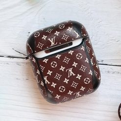Louis Vuitton Style Monogram Hard Silicone Protective Shockproof Case For Apple Airpods 1 & 2 - Casememe