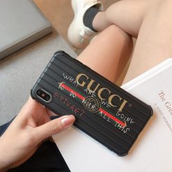 Gucci Style Meme Luggage Shockproof Designer iPhone Case For iPhone X XS XS Max XR 7 8 Plus - Casememe