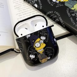 Simpson Style Hard Protective Case For Apple Airpods 1 & 2 - Casememe