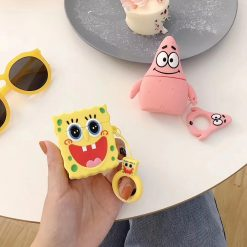 Spongebob Style Patrick Silicone Protective Shockproof Case For Apple Airpods 1 & 2 - Casememe