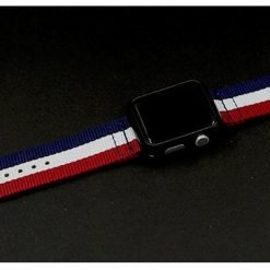 NATO Stripe Nylon Compatible With Apple Watch 38mm 40mm 42mm 44mm Band Strap For iWatch Series 4/3/2/1 - Casememe