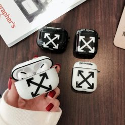 Off White Style Glossy Silicone Protective Case For Apple Airpods Pro - Casememe