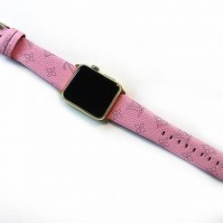 Luxury Style Classic Pink Leather Compatible With Apple Watch 38mm 40mm 42mm 44mm Band Strap For iWatch Series 4/3/2/1 - Casememe