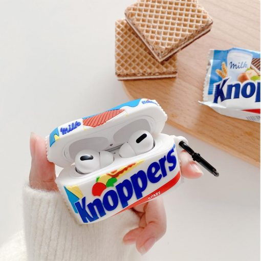 Knoppers Chocolate Silicone Protective Case For Apple Airpods 1 & 2 & Pro - Casememe