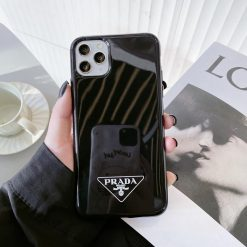Prada Style Silicone Shockproof Protective Designer iPhone Case For iPhone 12 SE 11 Pro Max X XS Max XR 7 8 Plus - Casememe