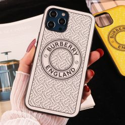 Burberry Style Silicone Classic Designer iPhone Case For All iPhone Models - Casememe