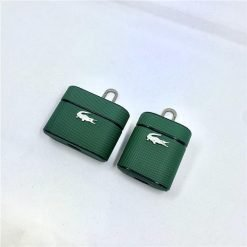 Lacoste Style Leather Protective Case For Apple Airpods 1 & 2 & Pro - Casememe