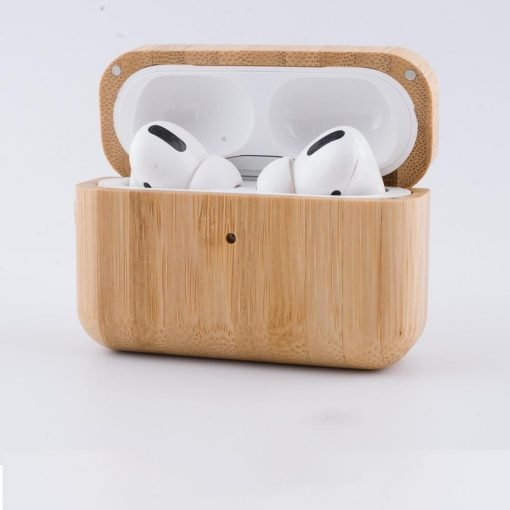 Wooden Bumper Shockproof Protective Case For Apple Airpods Pro - Casememe