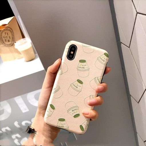 Yakult Style Sculpted Silicone Shockproof Protective Designer iPhone Case For iPhone SE 11 Pro Max X XS Max XR 7 8 Plus - Casememe