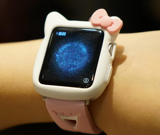 Hello Kitty Style Compatible With Apple Watch Silicone Case 38mm 40mm 42mm 44mm For iWatch Series 4/3/2/1 - Casememe
