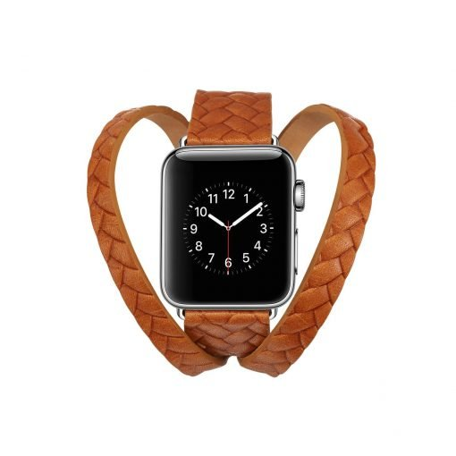 Hermes Style Leather Double Loop Weaving Compatible With Apple Watch 38mm 40mm 42mm 44mm Band Strap For iWatch Series 4/3/2/1 - Casememe