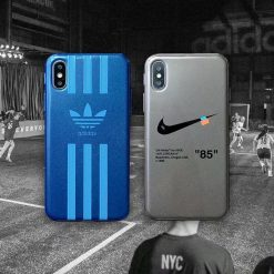 Adidas Nike Style Matte Silicone Designer iPhone Case For iPhone SE 11 Pro Max X XS Max XR 7 8 Plus - Casememe