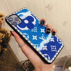 Louis Vuitton Style Candy Luxury Leather Shockproof Protective Designer iPhone Case For iPhone 12 SE 11 Pro Max X XS Max XR 7 8 Plus - Casememe