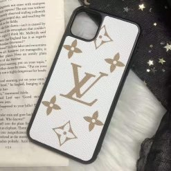 Louis Vuitton Style Classic Monogram Leather Designer iPhone Case For iPhone 11 Pro Max X XS XS Max XR 7 8 Plus - Casememe