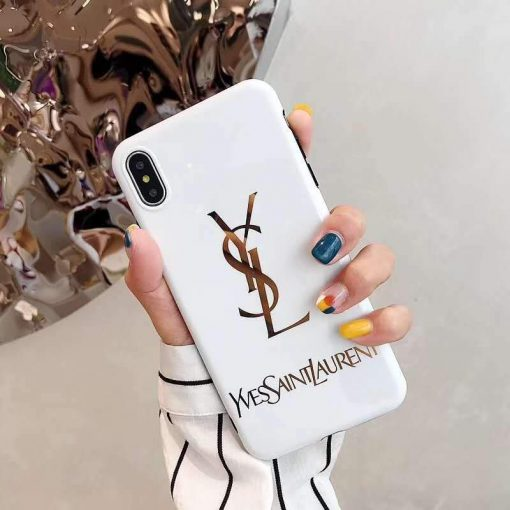 Saint Laurent Paris YSL Style Electroplating Glossy TPU Silicone Designer iPhone Case For iPhone 12 SE 11 Pro Max X XS XS Max XR 7 8 Plus - Casememe