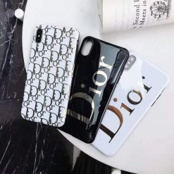 Dior Style Electroplating Glossy TPU Silicone Designer iPhone Case For iPhone 12 SE 11 Pro Max X XS XS Max XR 7 8 Plus - Casememe