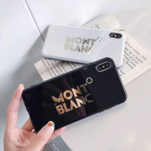 MONT BLANC Style Electroplating Glossy TPU Silicone Designer iPhone Case For iPhone 12 SE 11 Pro Max X XS XS Max XR 7 8 Plus - Casememe