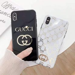 Gucci Style Electroplating Glossy TPU Silicone Designer iPhone Case For iPhone 11 Pro Max X XS XS Max XR 7 8 Plus - Casememe