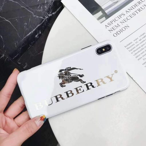 Burberry Style Electroplating Glossy TPU Silicone Designer iPhone Case For iPhone SE 11 Pro Max X XS XS Max XR 7 8 Plus - Casememe