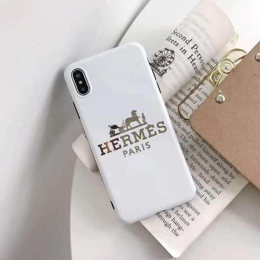 Hermes Style Electroplating Glossy TPU Silicone Designer iPhone Case For iPhone 12 SE 11 Pro Max X XS XS Max XR 7 8 Plus - Casememe