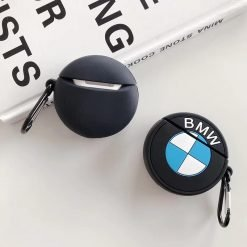 BMW Mercedes Benz Style Black Silicone Protective Shockproof Case For Apple Airpods 1 & 2 - Casememe