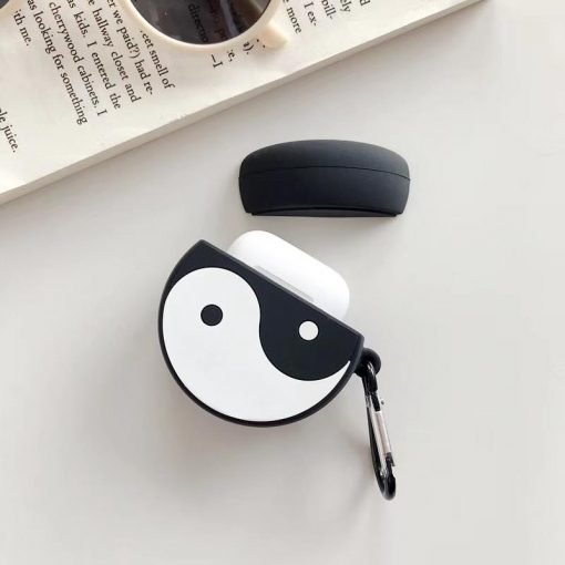 YinYang Black White Silicone Protective Shockproof Case For Apple Airpods 1 & 2 - Casememe