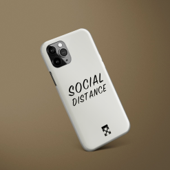 OFF Social Distance Designer iPhone Case For iPhone SE 11 Pro Max X XS Max XR 7 8 Plus - Casememe