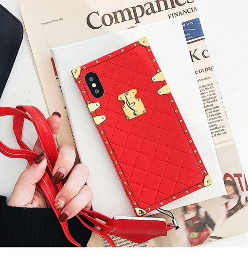 Luxury Golden Vintage Perfume Trunk Fashion Leather Designer iPhone Cases For iPhone SE 11 PRO MAX X XS XS Max XR - Casememe