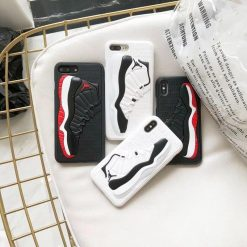 Luxury Street Fashion Trendy 3D  AJ Air Jordan Shoe Silicone Designer iPhone Cases For iPhone X XS XS Max XR - Casememe